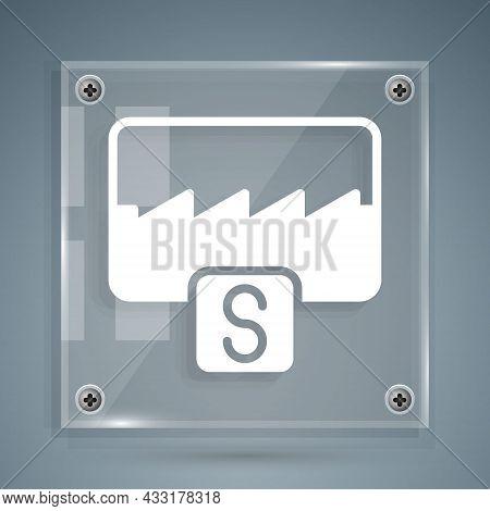White Music Wave Equalizer Icon Isolated On Grey Background. Sound Wave. Audio Digital Equalizer Tec