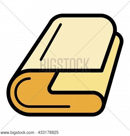 Trim Towel Icon. Outline Trim Towel Vector Icon Color Flat Isolated On White