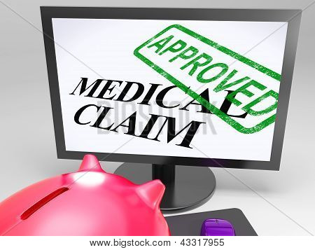 Medical Claim Approved Shows Health Claim Authorised