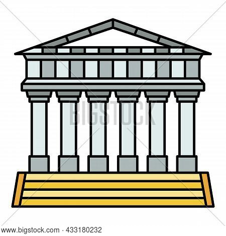 Italian Temple Icon. Outline Italian Temple Vector Icon Color Flat Isolated On White