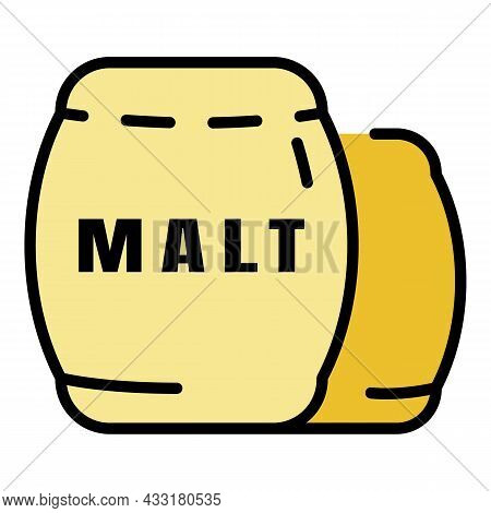 Whiskey Malt Icon. Outline Whiskey Malt Vector Icon Color Flat Isolated On White