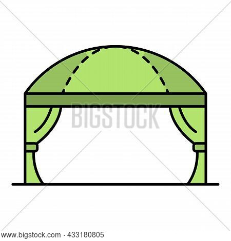 Wedding Tent Icon. Outline Wedding Tent Vector Icon Color Flat Isolated On White