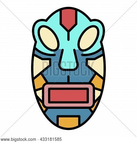 Maya Idol Icon. Outline Maya Idol Vector Icon Color Flat Isolated On White