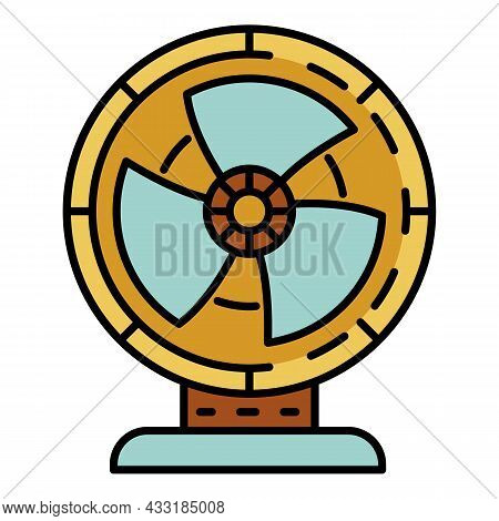 Air Fan Icon. Outline Air Fan Vector Icon Color Flat Isolated On White