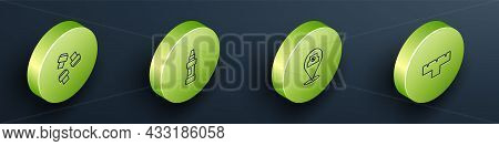 Set Isometric Line Marker Pen Attachment, , Paint Spray Can And Icon. Vector
