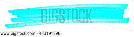 Highlight Pen Brush Light Blue For Marker, Highlighter Brush Marking For Headline, Scribble Mark Str