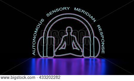 Autonomous Sensory Meridian Response Acronym And Woman Silhouette