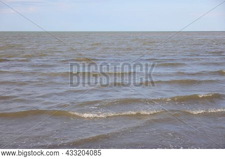 Simple Background Of The Sea With No People And No Boats By Day