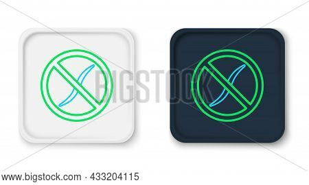 Line Anti Worms Parasite Icon Isolated On White Background. Colorful Outline Concept. Vector