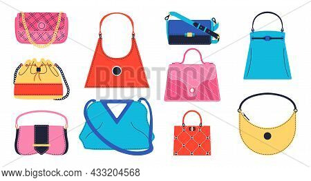 Women Purse. Trendy Cartoon Female Luxury And Everyday Accessories, Fashion Hobo And Clutch Doodle G