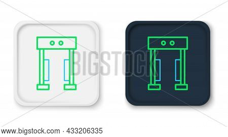 Line Metal Detector Icon Isolated On White Background. Airport Security Guard On Metal Detector Chec