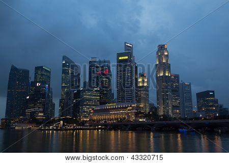 Night Marina bay citiscape, Singapore