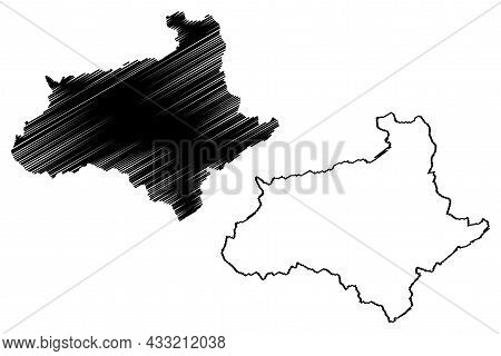 Baramulla District (jammu And Kashmir Union Territory, Republic Of India) Map Vector Illustration, S
