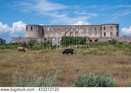 Borgholm Castle Ruin On Swedish Baltic Sea Island