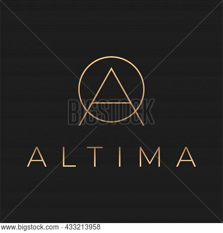 Luxury Style Letter A Vector Logo Design.
