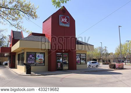 Tyler, Tx - March 26, 2019: Jack In The Box Fast Food Restaurant Located On Broadway Ave In Tyler, T
