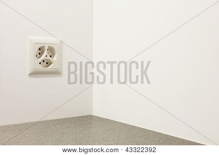 electrical outlet on a wall, interior