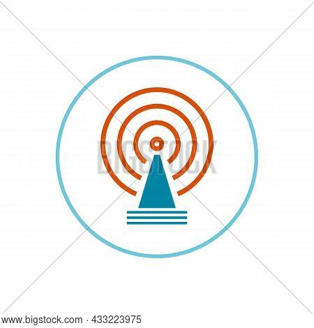 5g Mobile Network Cell Icon. Vector Illustration, Flat Style. Isolated On White Background.