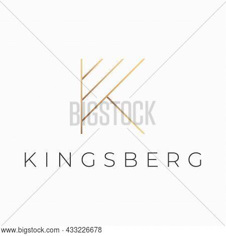 Luxury Style Letter K Vector Logo Design.