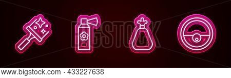 Set Line Rubber Cleaner For Windows, Air Freshener Spray Bottle, Garbage Bag And Robot Vacuum. Glowi