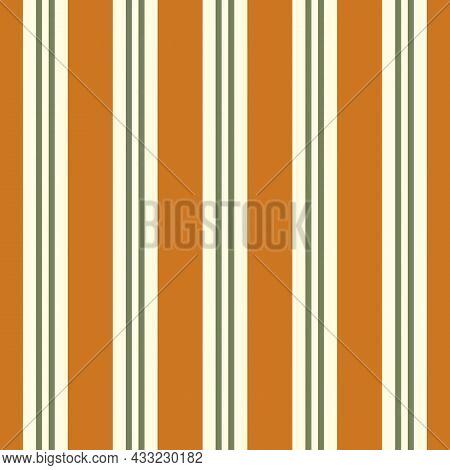 Regent Stripe Seamless Vector Pattern Background. Symmetrical Linear Geometric Backdrop. Ochre Cream