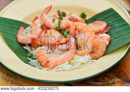 Grilled Shrimp Or Grilled Prawn, Shrimp Salad Or Boiled Shrimp