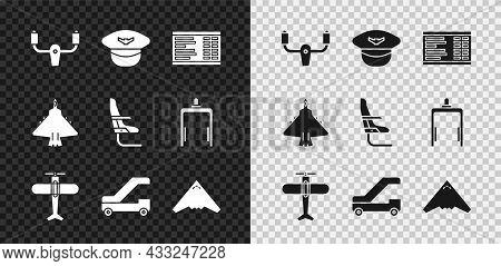 Set Aircraft Steering Helm, Pilot Hat, Airport Board, Plane, Passenger Ladder For Plane Boarding, Je