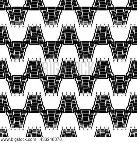Triple Escalator Pattern Seamless Background Texture Repeat Wallpaper Geometric Vector