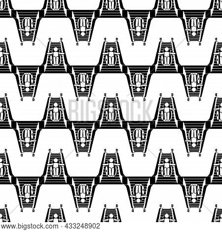 Man In Wheelchair On Escalator Pattern Seamless Background Texture Repeat Wallpaper Geometric Vector