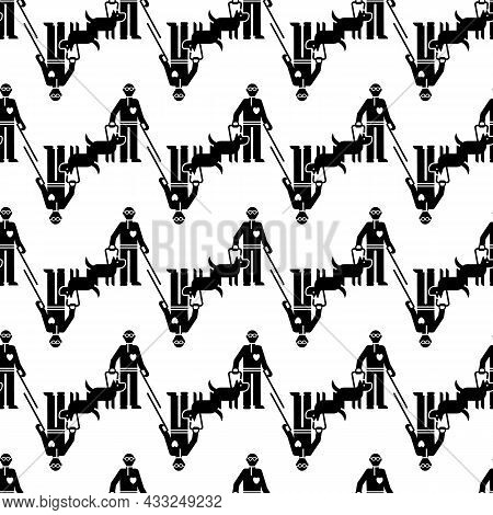 Invalid Person With Dog Pattern Seamless Background Texture Repeat Wallpaper Geometric Vector
