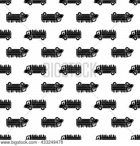 Refugee People Truck Pattern Seamless Background Texture Repeat Wallpaper Geometric Vector