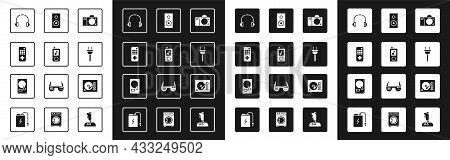 Set Photo Camera, Music Player, Remote Control, Headphones, Electric Plug, Stereo Speaker, Vinyl And