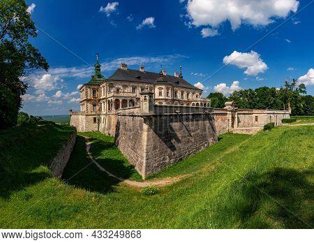 Panorama Of The Renaissance And Baroque Pidhirtsi Castle-fortress. Lviv Oblast, Ukraine