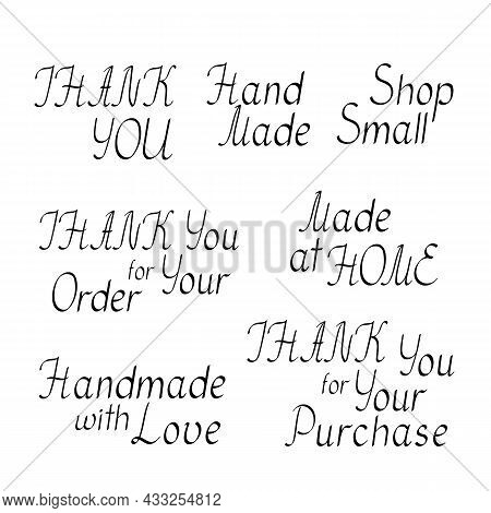 Thank You, Small Handmade Business Printable Packaging Stickers To Cut And Put On Envelopes, Gift Bo