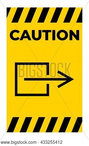 Output Exit Non-electrical Symbol Sign, Vector Illustration, Isolate On White Background Label. Eps1
