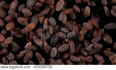 Top shot of coffee beans, close-up.