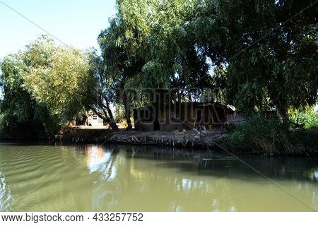 In The Danube Delta, On The Danube Canals On The Dunavat Canal .the Danube Canal In The Danube Delta