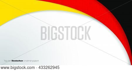 Black, Red, And Yellow Abstract Design. Germany Text Mean Is German Independence Day. Good Template