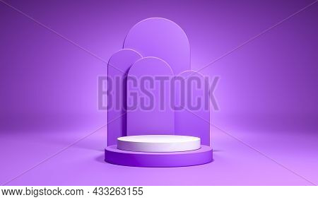 Product Setting 3d Podium Colorful Pastel Abstract Minimalistic Geometry, Geometric Shape's Interior