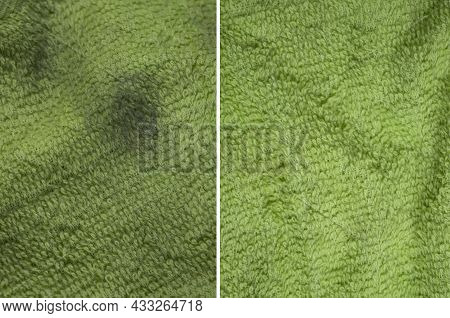 Cloth Stain Dirty Stain Before And After Cleaning