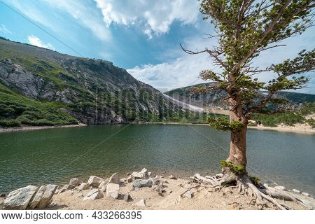 St Mary's Glacier Lake Area Of Colorado On A Sunny Summer Day
