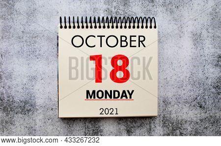 Save The Date Written On A Calendar - October 18