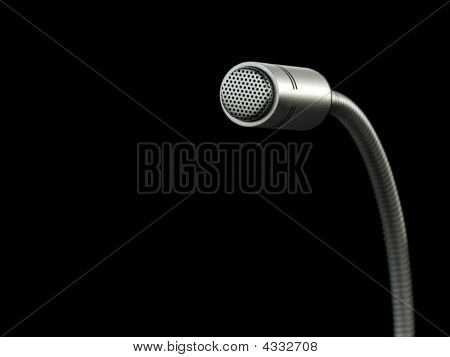 Microphone Isolated Over Black Background