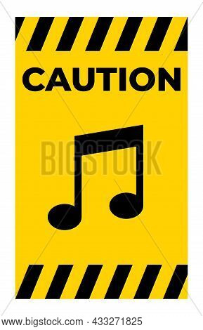 No Music Sing Isolate On White Background,vector Illustration