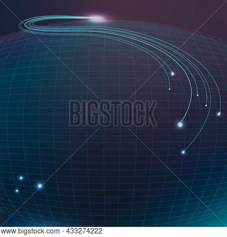 Abstract wireframe technology background in blue tone