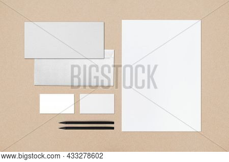 Corporate identity stationery set with design space