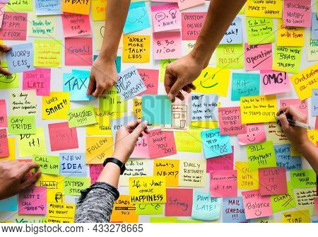 Sticky notes with messages and reminders