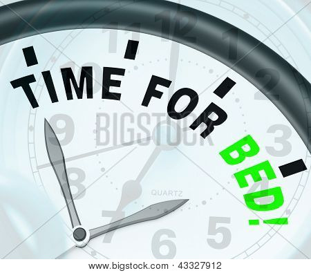 Time For Bed  Shows Insomnia Or Tiredness