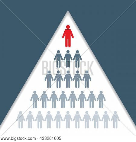 Business Organizational Chart Showing Hierarchy Of Company Vector Illustration Showing Boss And Empl