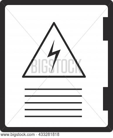 The Icon Of The Electrical Panel. Flat Vector Illustration.